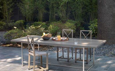 Flexform presents Levante table and Moka chairs